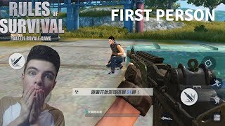 Download FIRST PERSON MODE Gameplay in Rules Of Survival ! Worlds First Ever Gameplay of First Person ! Video
