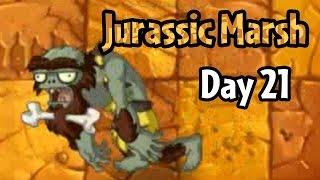 Download Plants vs Zombies 2 - Jurassic Marsh Day 21: Jurassic Bully Video