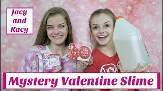Download Mystery Valentine Slime Challenge ~ Jacy and Kacy Video