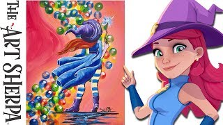 Download How To Paint Stella from Bubble Witch Saga 3 beginner Acrylic painting tutorial Video