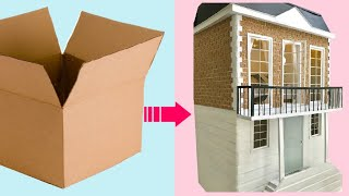 Download 4 AMAZING DOLLHOUSES made with recycled cardboard Video
