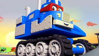 Download SUPER TRUCK EXCAVATOR - Carl the Super Truck becomes an Excavator to save Car City Children Cartoon Video