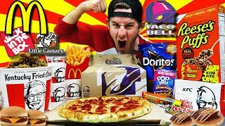 Download THE ULTIMATE AMERICAN FAST FOOD CHEAT DAY (30,000+ CALORIES) Video