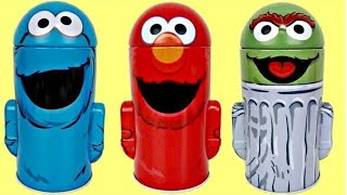 Download SESAME STREET Coin Bank Toy Surprises: ELMO, COOKIE MONSTER, OSCAR The Grouch TUYC Video