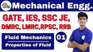 Download 12:00 PM | Mechanical by Neeraj Sir | Day #1 | Fluid Mechanics | Properties of Fluid Video
