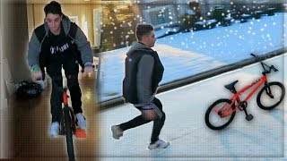 Download SNOW DAY BMX FAILS AT THE tK HOUSE! - (SNOW VLOG PART 1) Video