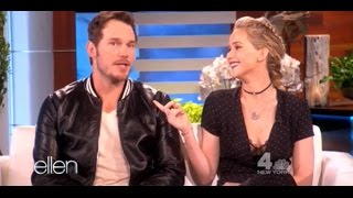 Download Jennifer Lawrence and Chris Pratt at The Ellen DeGeneres Show (11-10-2016) | Full interview Video
