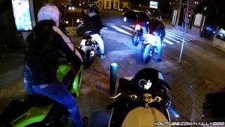 Download Winter Bike Night (Wheelies & COPS!!!!) - Yamaha R1 Crossplane 2011 Video