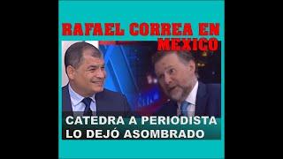 Download Rafael Correa enseña a periodista mexicano sobre politica y sociedad. Video