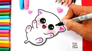 Download Aprende a dibujar un GATITO BEBÉ Kawaii | How to Draw a Cute Baby Kitten Video