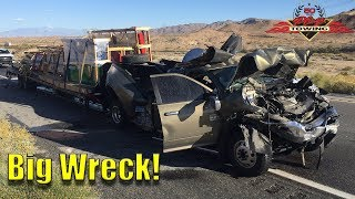 Download Very Bad Truck Wreck! Pickup Rear Ends Semi At 60+ MPH Video