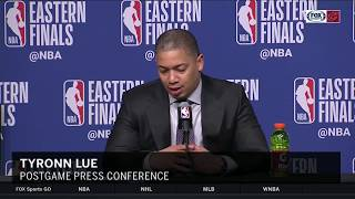Download Tyronn Lue full postgame press conference as Cavs face elimination vs. Celtics   NBA PLAYOFFS Video