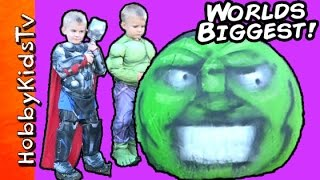 Download Giant Hulk Smash Egg! Surprise TOYS HobbyKidsTV Video