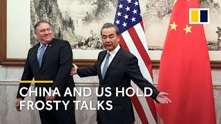 """Download China's Foreign Minister Wang Yi urges US counterpart Mike Pompeo to stop """"wrong actions and words"""" Video"""