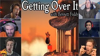 Download Gamers Reactions to Falling Down at ″Orange Hell″ | Getting Over It Video