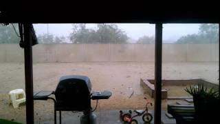 Download Directly under a Forming Micro-burst in Tucson AZ Video