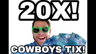 Download WINS! 20X! Dallas Cowboys tickets! Texas Lottery scratch off tickets Video