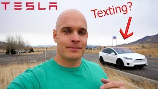 Download Can you Text and Drive a Tesla at the Same Time? Video