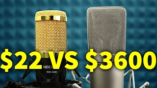 Download $22 MICROPHONE VS $3600 MICROPHONE Video