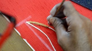 Download Exclusive Video Of Beads Loading - Heavy maggam work making Video
