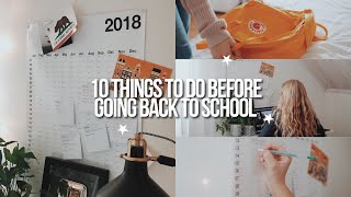 Download 10 THINGS YOU NEED TO DO BEFORE BACK TO SCHOOL 2018 Video