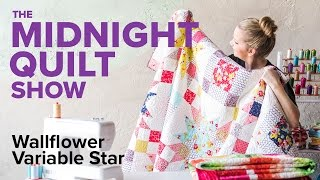 Download Wallflower Variable Star Quilt   Midnight Quilt Show with Angela Walters Video
