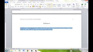 Download APA Reference Page Video