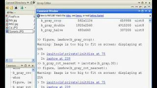 Download Matlab area processing in image processing Video