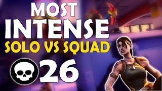 Download 26 KILL | THE MOST INTENSE SOLO VS SQUAD EVER | COME HERE BOII! - (Fortnite Battle Royale) Video