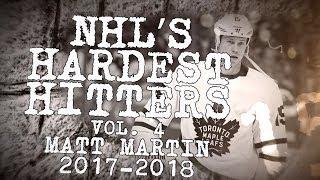 Download Best Matt Martin Hits From 2017-18   NHL's Hardest Hitters Video