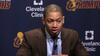 Download Tyronn Lue reacts to LeBron James' request for 'playmaker' Video
