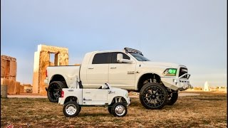 Download Mini dually and Monster Dually, Like father like daughter both in lifted rams #SalinasPhotography Video