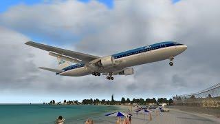 IXEG 737-300 Classic - VOR/DME Approach - Princess Juliana - TNCM