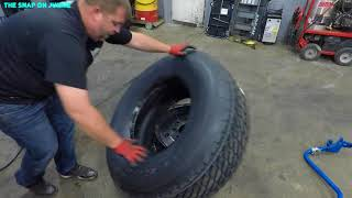 Download HOW TO CHANGE A DUMP TRUCK STEER TIRES 🛠🔥🔥🔥🚜🤴🏽 Video