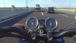 Download Honda CBX 1000 open pipes on Motorway CBX1000改造 Video