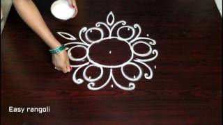 Download muggulu designs with 5 to 3 interlaced dots - rangoli art designs - simple kolam Video