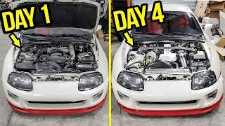 Download Rebuilding (And Heavily Modifying) A Stock 200,000 Mile Toyota Supra In 4 Days Video