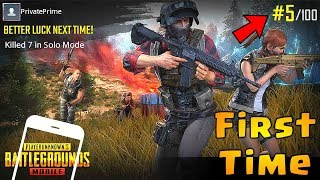 Download FIRST TIME Playing PUBG MOBILE | English Version /Global Launch | Android gameplay Video