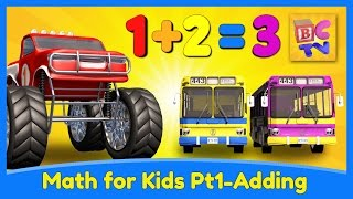 Download Learn Math for Kids | Adding with Monster Trucks by Brain Candy TV Video