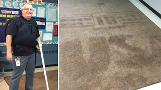 Download School Janitor Surprises Students With Creative Rug Art Designs Each Day Video