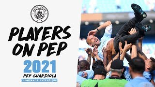 Download PLAYERS REACT TO PEP | Guardiola Contract Extension 2021 Video
