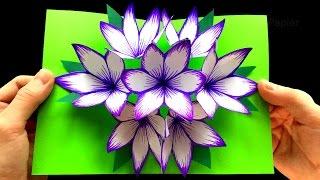 Download Basteln mit Papier: DIY Blumen Pop-Up Karten - 3D - DIY Geschenke selber machen Video