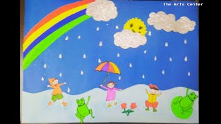 Download How to make kids 3d Craft fun Rainy project DIY | school Project on chart paper by The Arts Center Video