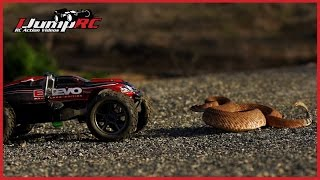 Download Traxxas E-Revo Rattlesnake Encounter Video