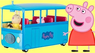 Download Nick Jr. PEPPA PIG School Bus, Sound, Song, Miss Rabbit, Candy Cat Toy Surprises Playset / TUYC Video