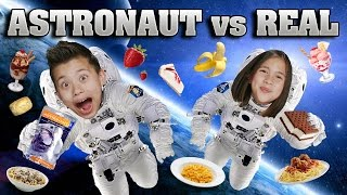 Download ASTRONAUT FOOD vs. REAL FOOD CHALLENGE!!! Outer Space Taste Test! Video