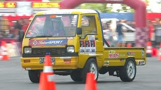 Download Mobil Pick up Drift - Jogja Intersport Lead for Speed (Gymkhana Slalom Car Racing Indonesia) Video