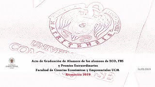 Download Acto de Graduación del Grado ECO, FBS de la Facultad de Ciencias Económicas y Empresariales UCM Video