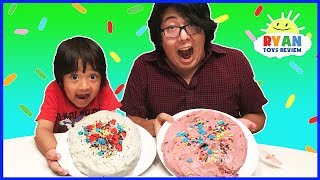 Download Cake Challenge Parent vs Kid Family Fun Activities with Ryan ToysReview Video
