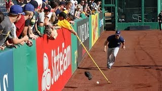 Download PLAYERS vs. FANS with crazy ball-retrieving devices at PNC Park Video